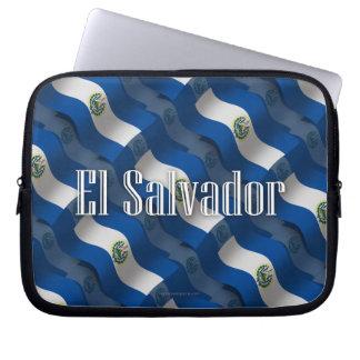 El Salvador Waving Flag Computer Sleeves