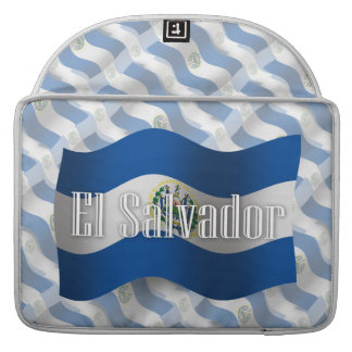 El Salvador Waving Flag MacBook Pro Sleeve