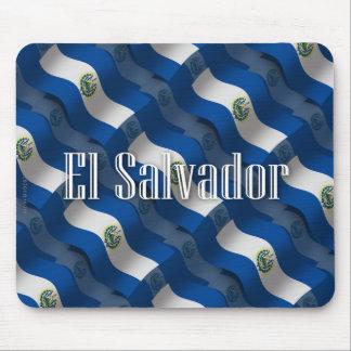 El Salvador Waving Flag Mousepad