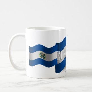 El Salvador Waving Flag Coffee Mugs