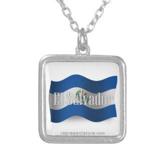 El Salvador Waving Flag Necklaces