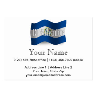 El Salvador Waving Flag Pack Of Chubby Business Cards