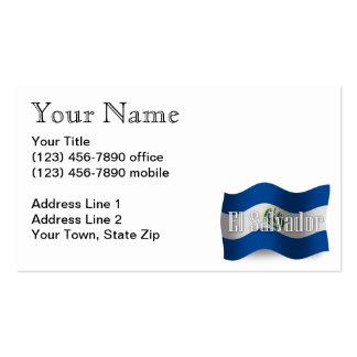 El Salvador Waving Flag Pack Of Standard Business Cards