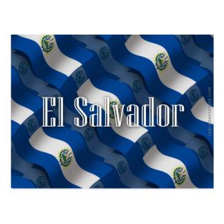 El Salvador Waving Flag Postcard