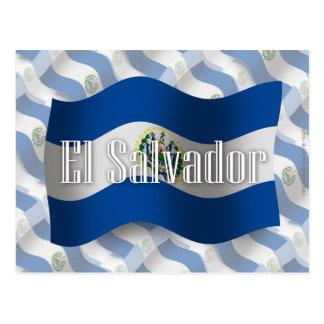 El Salvador Waving Flag Post Cards