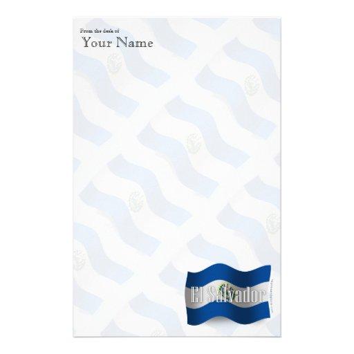 El Salvador Waving Flag Stationery Paper