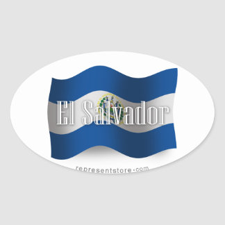 El Salvador Waving Flag Sticker