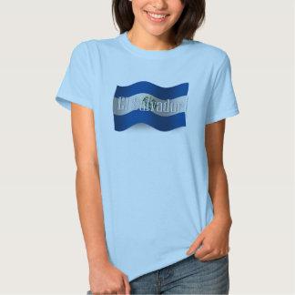 El Salvador Waving Flag T Shirt