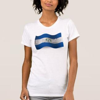 El Salvador Waving Flag T-Shirt