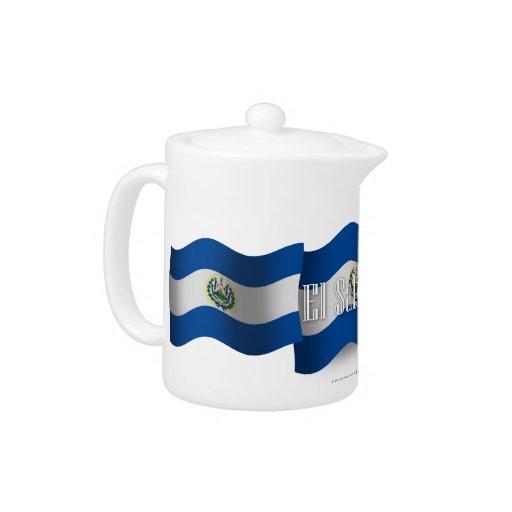 El Salvador Waving Flag