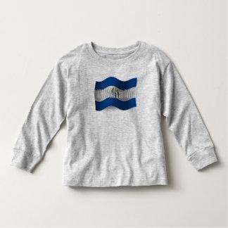 El Salvador Waving Flag Toddler T-Shirt