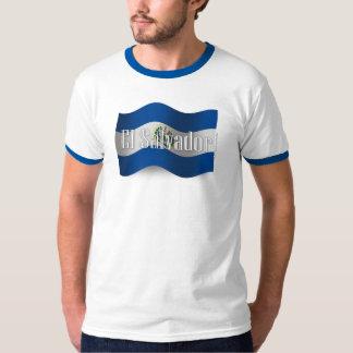 El Salvador Waving Flag Tshirt