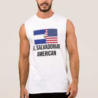 El Salvadorian American Flag Sleeveless Shirts