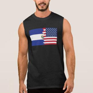 El Salvadorian American Flag Sleeveless T-shirts