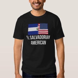 El Salvadorian American Flag T Shirts