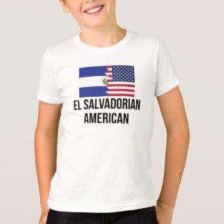El Salvadorian American Flag Tee Shirt