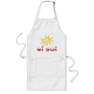 El Sol - The Sun in Chilean Summer Vacation Aprons