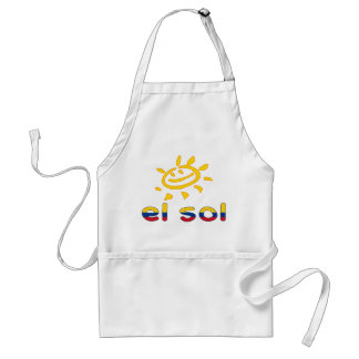 El Sol The Sun in Colombian Summer Vacation Aprons