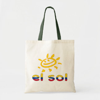 El Sol The Sun in Colombian Summer Vacation Budget Tote Bag