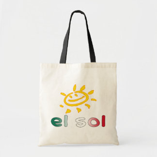 El Sol The Sun in Mexican Summer Vacation Budget Tote Bag