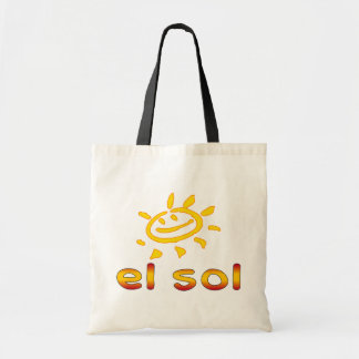 El Sol The Sun in Spanish Summer Vacation Budget Tote Bag