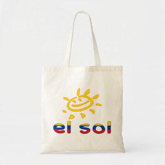 El Sol - The Sun in Venezuelan Summer Vacation Canvas Bag