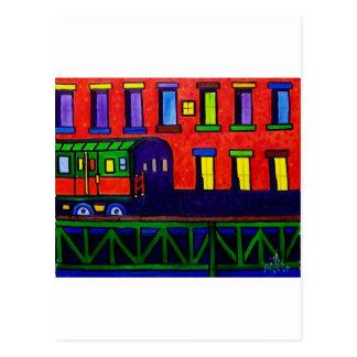 El Train Bronx Postcard