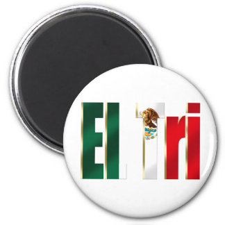 EL Tri Mexico soccer futbol Mexican pride logo 6 Cm Round Magnet