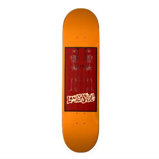 El Trio De Equeletos 19.7 Cm Skateboard Deck