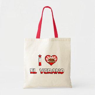 El Verano, CA Budget Tote Bag