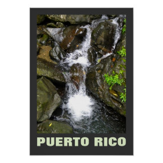El Yunque Small Waterfall Puerto Rico Poster