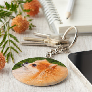 Ela, Pom Queen of the Lawn Basic Round Button Key Ring
