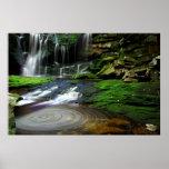 Elakala Waterfalls Swirling Pool Mossy Rocks Poster