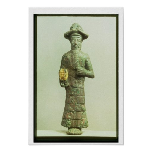 Elamite God with Golden Hand from Susa, Southweste Posters