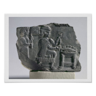 Elamite woman spinning, Neo-Elamite Period, c.700- Poster