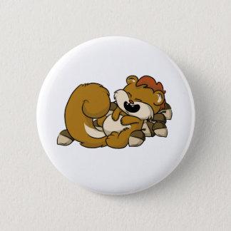 Elated Squirrel! 6 Cm Round Badge