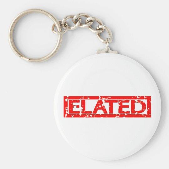 Elated Stamp Basic Round Button Key Ring