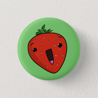 Elated Strawberry 3 Cm Round Badge