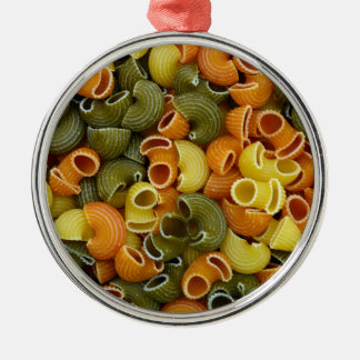 elbow pasta texture pattern background food tricol christmas ornament