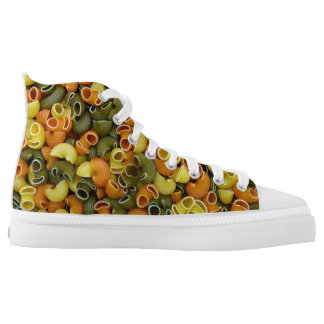 elbow pasta texture pattern background food tricol high tops