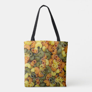 elbow pasta texture pattern background food tricol tote bag
