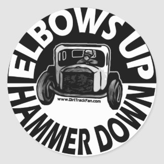 Elbows Up Hammer Down Sticker