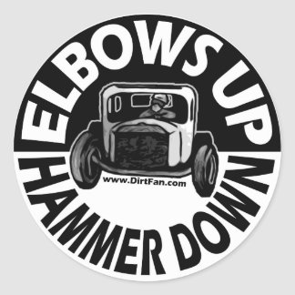 Elbows Up, Hammer Down - Sticker
