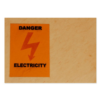 Elcetricity danger sign pack of chubby business cards