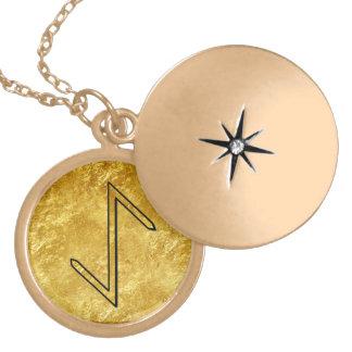 "Elder Futhark Neclace ""Eihwaz"" Round Locket Necklace"