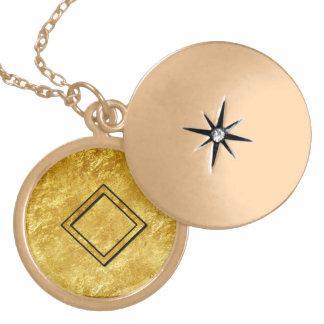 """Elder Futhark Neclace """"Ingwaz"""" Round Locket Necklace"""