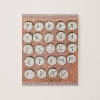 Elder Futhark Oak Rune Puzzle