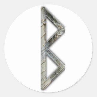 Elder Futhark Rune Beorc Round Sticker