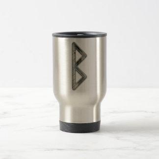 Elder Futhark Rune Beorc Stainless Steel Travel Mug