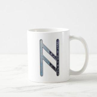 Elder Futhark Rune Haegl Coffee Mugs